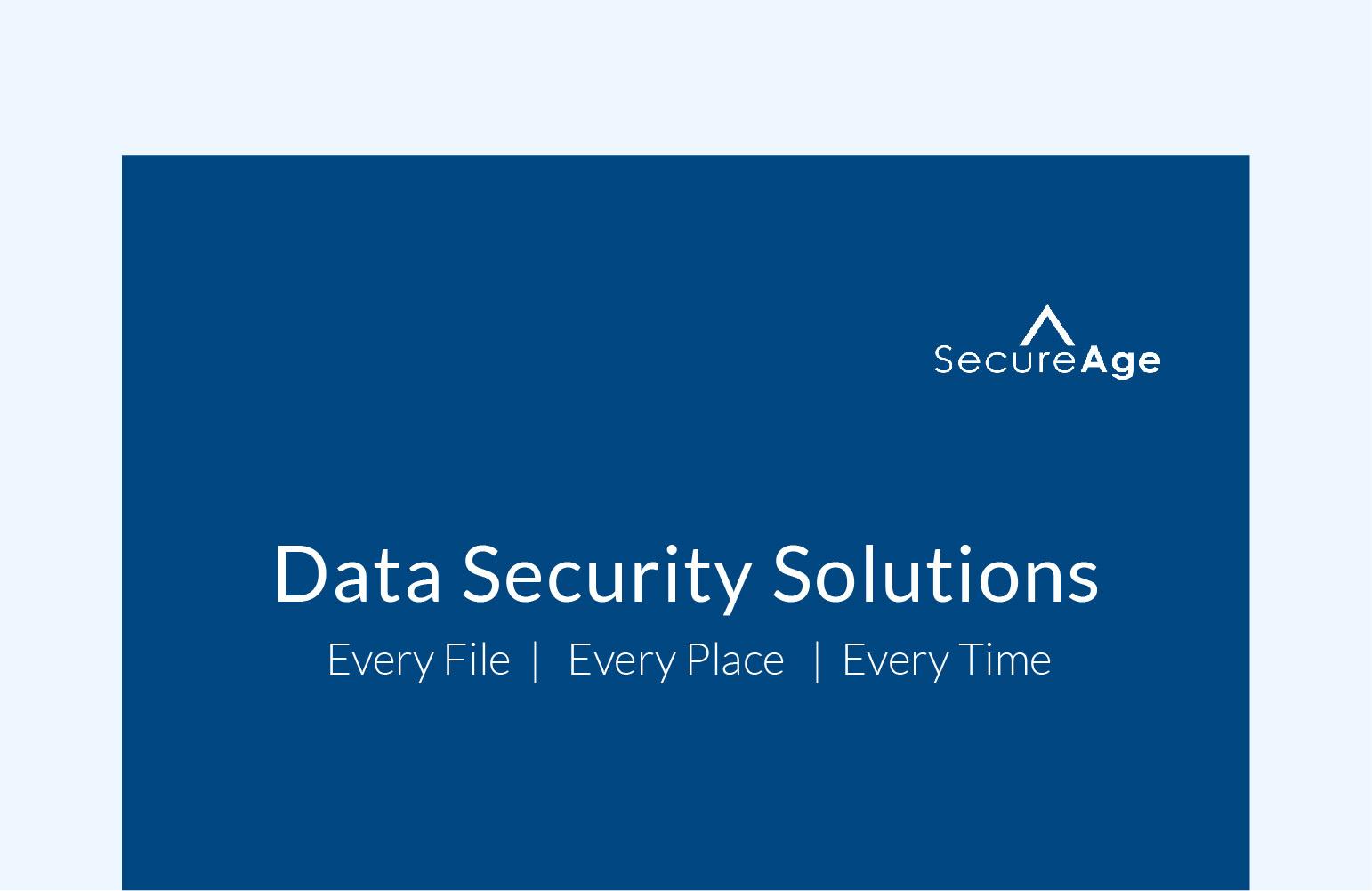 SecureAge Product Catalogue