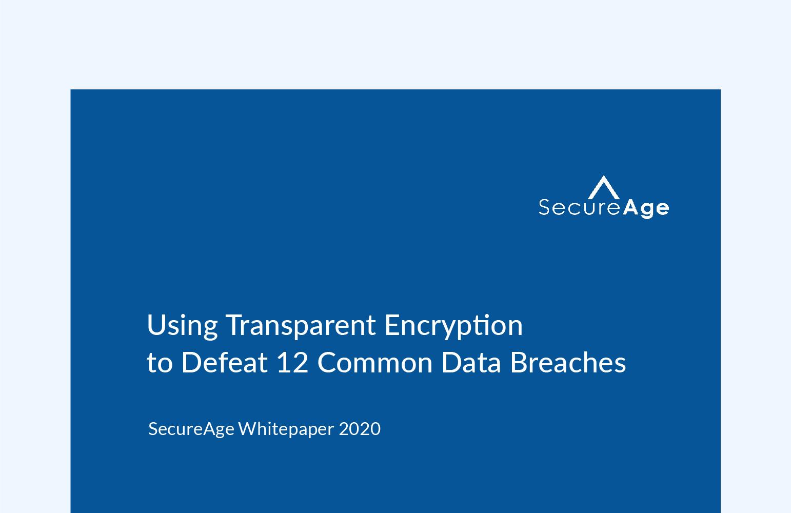 Using Transparent Encryption to Defeat 12 Common Data Breaches